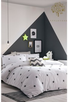 Tufted Star Kid's Duvet Cover and Pillowcase Set by Appletree