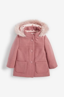 Faux Fur Trim Duffle Coat (3mths-7yrs)