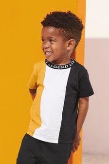 Short Sleeve Colourblock T-Shirt (3mths-7yrs)