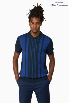 Ben Sherman Midnight Mod Stripe Short Sleeve Polo