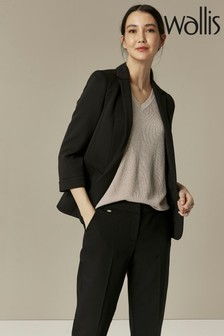 Wallis Black Ribbed Blazer