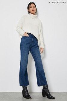 Mint Velvet Monroe Indigo Wide Leg Jeans
