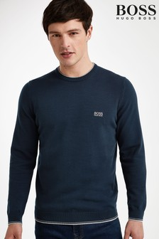 BOSS Blue Rimex Crew Jumper