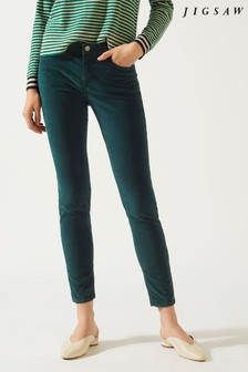 Jigsaw Deep Green Richmond Velvet Jean