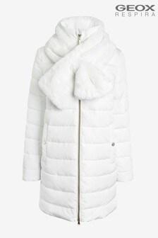 Geox Woman's Eliska Cloud White Jacket