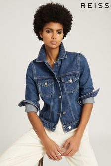 Reiss Blue Philipa Denim Jacket