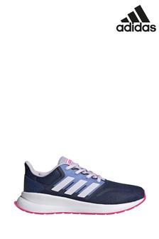 adidas Run Navy/Pink Falcon Junior & Youth Trainers
