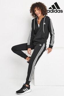 Черный спортивный костюм с 3 полосками adidas Energiz