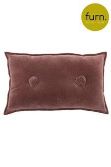 Furn Red Bobble Cushion