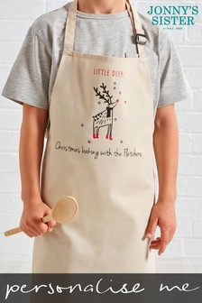 Personalised Kids Reindeer Apron by Jonny's Sister