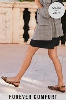 Forever Comfort® Schuhe mit eckiger Zehenpartie und Fersenriemen