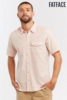 FatFace Pink Branton Stripe Shirt