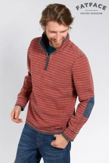 FatFace Orange Paprika Airlie Pencil Stripe Sweat