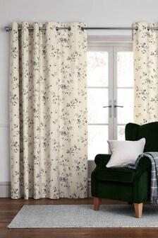 Vintage Floral Eyelet Curtains