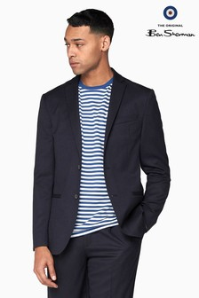 Ben Sherman Navy Midnight Structure Slim Jacket