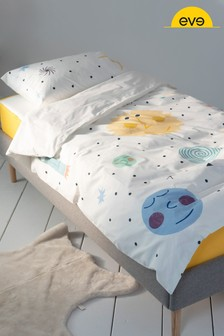 Cotton Space Duvet Cover and Pillowcase Set by EVE