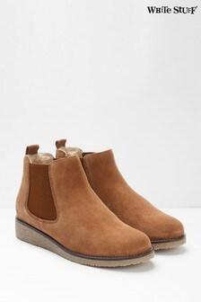 White Stuff Tan Eve Chelsea Boots