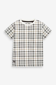 Short Sleeve Check T-Shirt (3mths-7yrs)