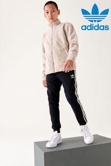 adidas Black Trefoil Joggers