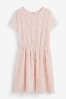 Sequin Heart Dress (3-16yrs)