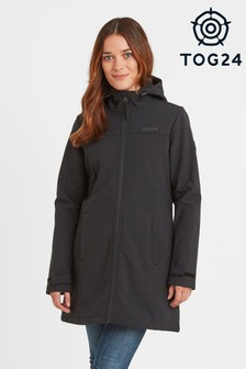 Tog 24 Womens Black Keld Hooded Long Length Softshell Jacket