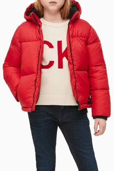 Calvin Klein Jeans Red Essential Padded Jacket