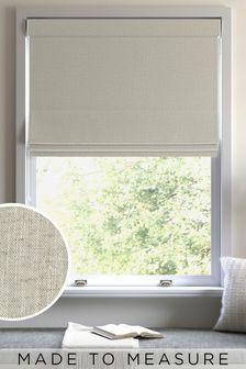 Linen Look Natural Made To Measure Roman Blind
