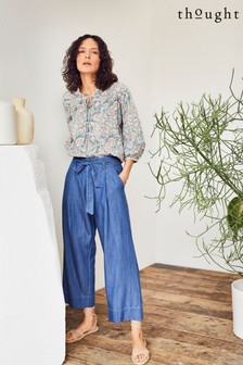 Thought Blue Esther Tie Waist Culottes