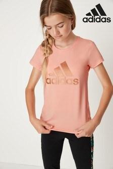 adidas Pink/Gold T-Shirt