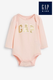 Gap Pink Logo Bodysuit