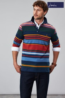 Joules Blue Holywell Hotchpotch Rugby Shirt