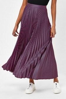 Gingham Pleat Skirt