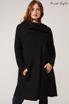 Phase Eight Black Bellona Knit Coat
