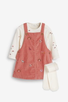 Cord Dress And Bodysuit (0mths-2yrs)