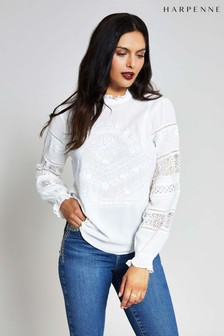 Harpenne Cream Victoriana Lace Top