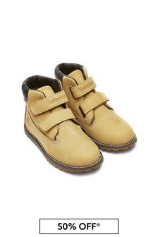 Timberland Boys Chestnut Pokey Pine Velcro Booties