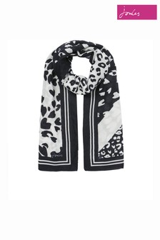 Joules Cream River Printed Scarf