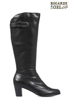 Regarde Le Ciel Sonia 05 Heeled Leather Knee High Boots