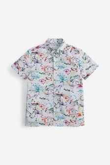 Splat Print Short Sleeve Shirt (3-16yrs)