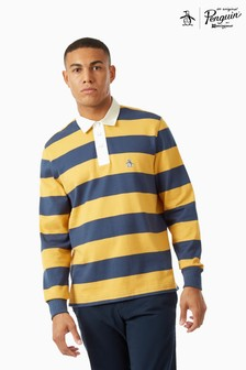 Original Penguin® Striped Rugby Shirt With Chest Placement Pete The Penguin Logo