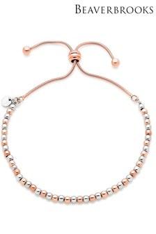 Beaverbrooks Silver Rose Gold Plated Bracelet