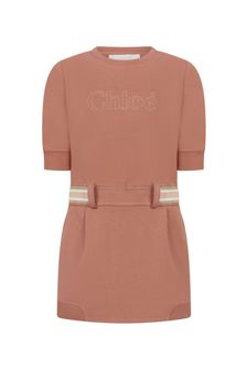 Chloe Kids Girls Orange Jersey Dress