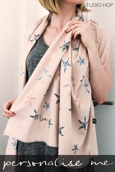 Personalised Cashmere Blend Stars Filled With Joy Scarf by Studio Hop