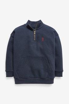 Zip Neck Sweatshirt (3-16yrs)
