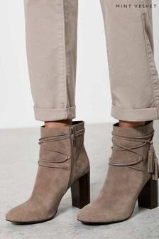 Mint Velvet Savannah Taupe Suede Boots