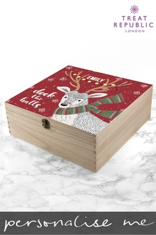 Personalised Deck The Halls Christmas Box by Treat Republic