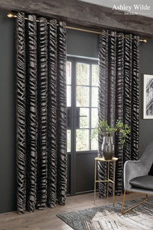 Ashley Wilde Jovan Lined Eyelet Curtains