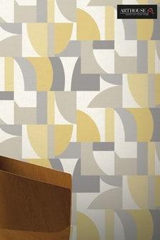 Arthouse Yellow Modern Geo Wallpaper