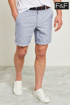 F&F Blue Square Dobby Short