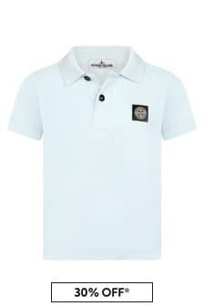 Stone Island Junior Boys Blue Cotton Poloshirt